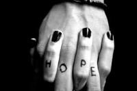 hope written on hands